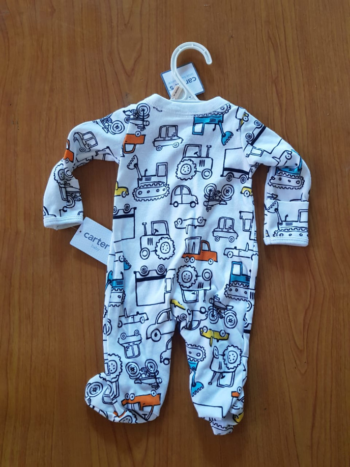 Carter's Construction Trucks & Car Sleepsuit