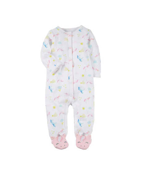 Carters baby girls unicorn one piece footed onesie