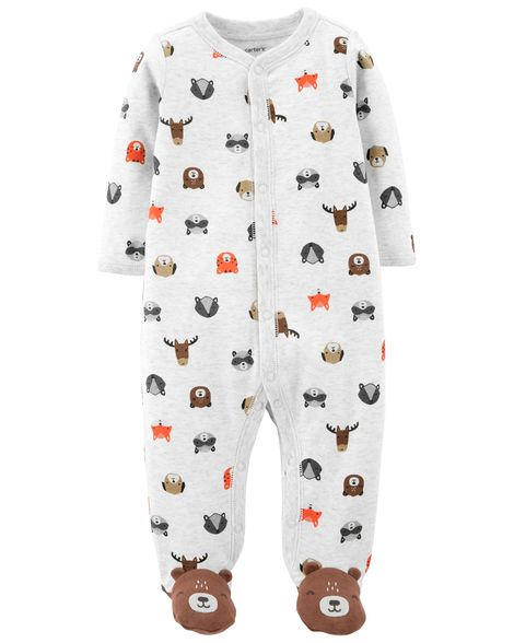Carter's Bear Snap-Up Cotton Sleep & Play