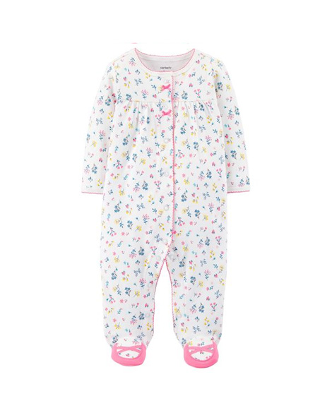 Carter's Floral Snap-Up Cotton Sleep & Play