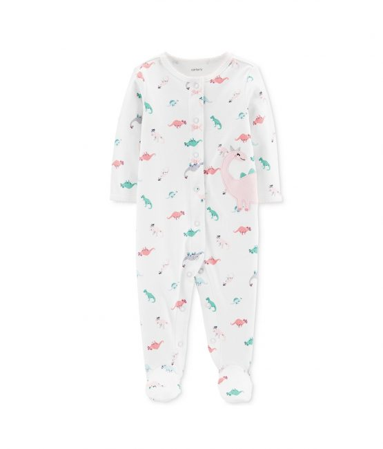 Carters Dinosaur Cotton Footed Pajamas